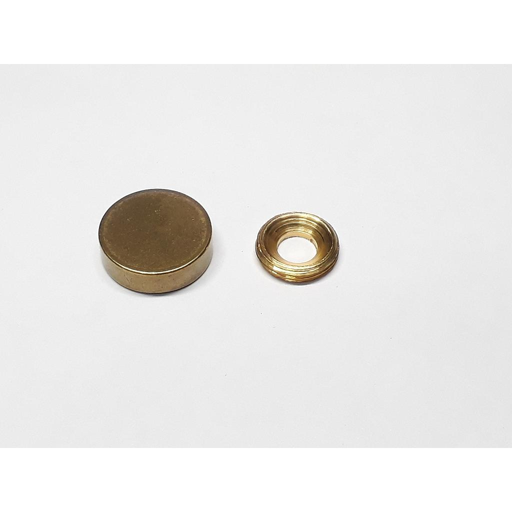 Art.3464/3675-01 Embellecedor 21 mm bronce pulido