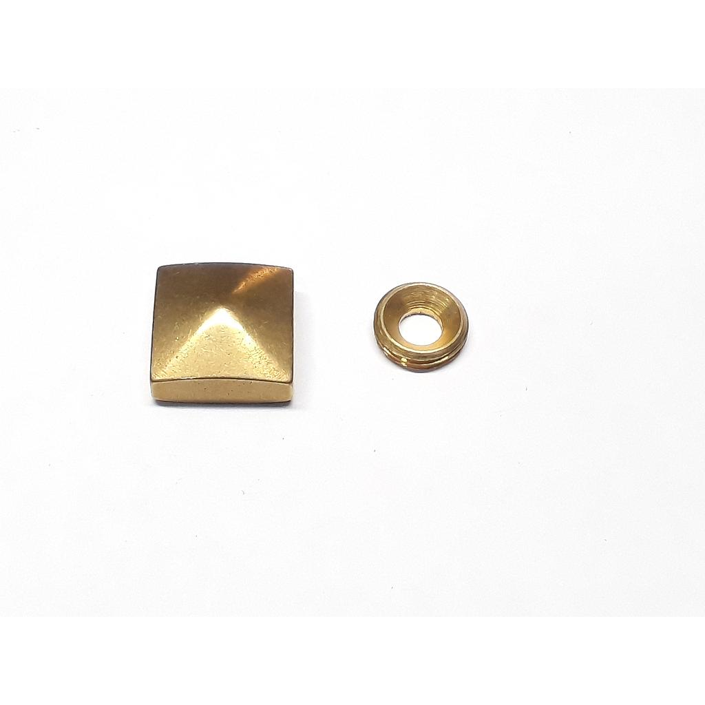 Art.3464/7860-15 Embellecedor 15x15 mm bronce pulido