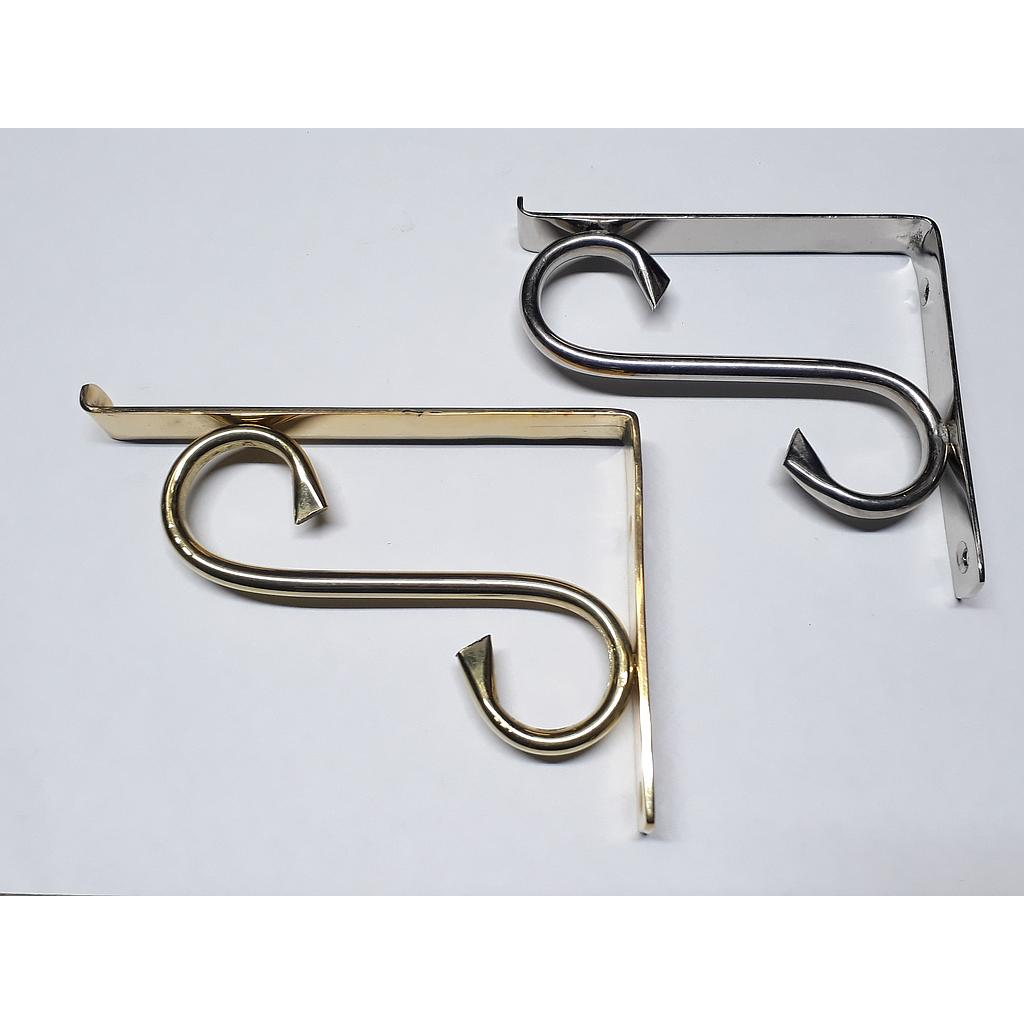 Art.3043-1 Soporte 100 mm bronce pulido y platil